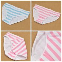 Blue Pink Stripe Harajuku Lolita Girl Panties Underwear Intimate Cosplay Anime