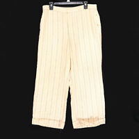 Lauren Ralph Lauren Women's Petite Beige LRL Linen Blend Striped Pants Size 14P