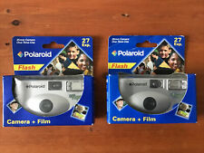 Polaroid Flash Disposable Film 2 Cameras Brand New Factory Sealed 35mm 28 Exp.