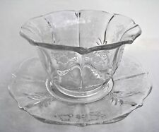 """Vintage Fostoria Baroque MEADOW ROSE Footed Mayonnaise Bowl & Underplate 5.25"""" w"""