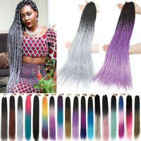 5x Senegalese Twist Hair Crochet Box Braids Kanekalon Box Braiding Extensions us