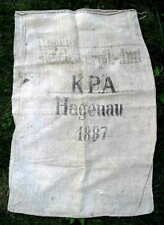 Germany K.P.A. Hagenau Food Sack Original 1887 #504