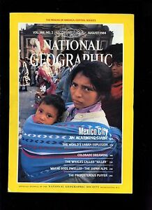 August 1984 NATIONAL GEOGRAPHIC Magazine ROCKIES MEXICO CITY COLORADO WHALES