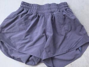 Lululemon Shorts Size 4 Workout Run Yoga XS Lavender Purple Good Condition! DEAL