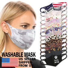 Washable Mask - Unisex Adult Reusable Breathable 3D Face Stretch Spandex Fabric