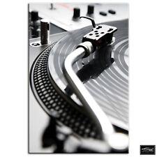 Decks Turntables   DJ Club BOX FRAMED CANVAS ART Picture HDR 280gsm