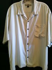 Tommy Bahama Shirt Mens XL Ivory Silk S/S Button Front