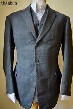 Handsome Vtg 50s 60s Check 3 Piece Suit Austin Reed Regents St Lapel W/C
