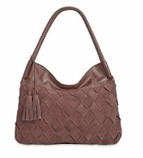 Inc International Concepts Ella Hobo, Zipper Braid Straps Espresso Handbag NWT