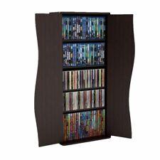 Media Storage Cabinet 6-Shelf Entertainment Organizer Home Living Room Stand