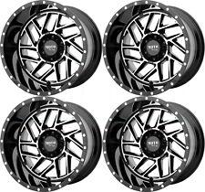 20x10 Moto Metal MO985 Breakout 6x5.5/6x139.7 -18 Black Machine Wheels Rims Set(