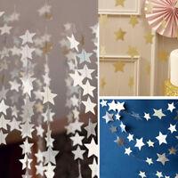 EG_ Romantic Star Paper Garland Banner Bunting Wedding Baby Shower Party Decor W