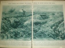 WW1 Barrage of Combles ends before British advance France 1916 print ref AN