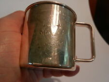 Vintage Campbell's Soup Silver Baby Cup M-m-m Good