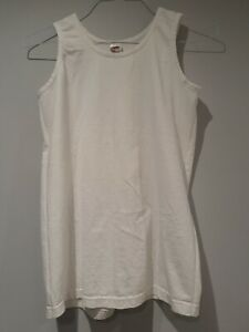 Mens Fruit of the Loom Plain white Vests Tank Top Gym Training T Shirt Vest