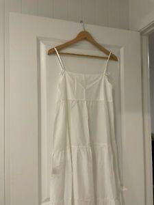 Matteau tiered sun dress white