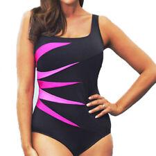 Plus Size Women's Swimwear Swimsuit Monokini Bathing Suit Beachwear Strapless