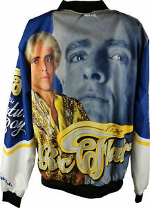Ric Flair Blue White WWE Mens Legends Fanimation Chalkline Jacket