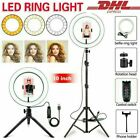 18 LED SMD Ring Light Kit With Stand Dimmable 5500K For Camera Makeup Phone US