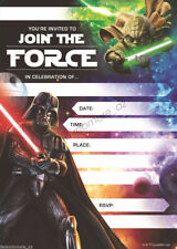 Disney Star Wars Themed Birthday Party Supplies 16 Invitations + Envelopes KID
