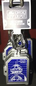 Disney Star Wars Galaxy Edge R2-D2 Skematic Sketch BB-8 Light Up Keychain New