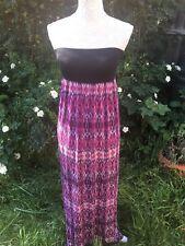 Stunning Size 6 Boho Retro Vibrant Purple Sleeveless Summer Maxi Dress