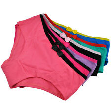Pack 1-6 Women's Cotton Underwear Ladies Girls Cute Bow Briefs Panties Knickers