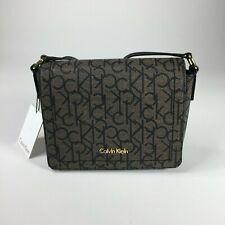 *NEW* CALVIN KLEIN LILY Grey CK SIGNATURE MONOGRAM Crossbody Handbag Logo