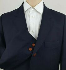 A.P.C Mens Black Wool / Cashmere Sport Coat Blazer Chunky Buttons Size Large