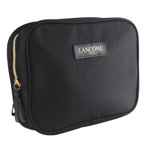 Lancome Big Black Rectangular Cosmetic Makeup Travel Bag