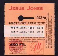 1991 Jesus Jones concert ticket stub Ancienne Brussels Belgium Doubt