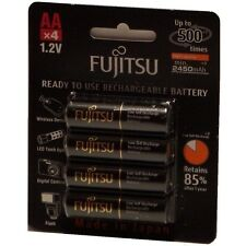 Fujitsu 2450 Mah Hr 3 uthc AA Mignon Battery Ni-MH ready to use 1,2v 4 Piece OVP + New!