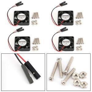 4x 2 Pin 30MMx30MM 3007 5V Cooling Fan radiating For Raspberry Pi 2/3 Model B 4B