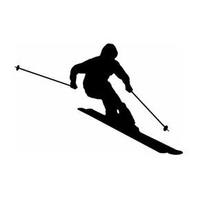 Ski, Skiing, Sticker, Downhill, Slalom, Car-Van-Camper-Wall-Door-Decal-Sticker