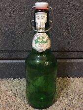 Vintage GROLSCH Lager Beer Green Glass Pint Bottle Porcelain Flip Swing Top
