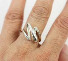 Unusual Solid 925 Sterling Silver Ring jewellery,  R, 8.75