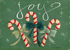 Joy Candy Canes - Box of 18 Christmas Cards by Lpg Greetings