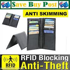 RFID Blocking Credit Card Wallet 16 Card Slots Lightweight Anti Scan Skimming