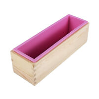 Loaf Silicone Soap Mold Rectangle Wooden Box DIY Toast Loaf Baking Cake Molds