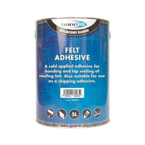 Shed Garage Grit Felt Roof Adhesive DIY Repair Fix Cold Tar Bitumen Glue 5LTR