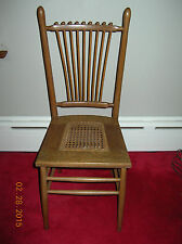 Vintage - Antique Spindle Back w/ Cane Seat Chair