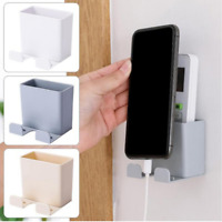 Wall Mounted Storage Box Remote Control Mobile Phone Plug Holder Stand Container