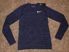 Mens Nike Dri Fit Knit Long Sleeve Running Shirt XL $90 NWT 833565 Purple <<<