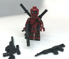 Custom Lego Print DEADPOOL 2 Movie styl COMIC CON minifigure figure +weapons lot