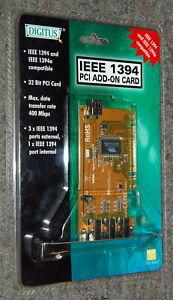 DIGITUS DCST-1394-3+1 OHCI V1.1 IEEE1394 3+1 port FireWire PCI  ORIGINAL UNUSED