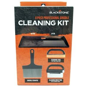 NEW Blackstone 8 Piece Griddle Cleaning Kit for Hot or Cold Surfaces Ships FREE