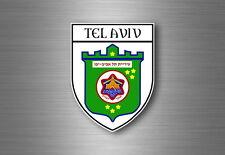 sticker adesivi adesivo stemma etichetta bandiera auto tel aviv israele
