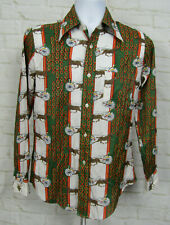 Golden Harvest Collection Button Down Shirt Mens Sz M Western Cowboy Hipster vtg