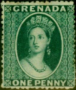 Grenada 1878 1d Green SG16 Wmk Sideways P. 15 Fine Unused