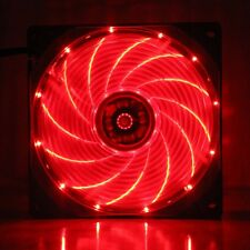 Wholesale 10pcs 15 red LED 12V 9cm 92mm 92x92x25mm PC CPU Case Cooling Fan 3pin